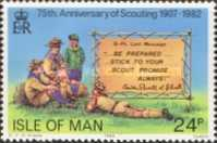 [The 75th Anniversary of the Boy Scout Movement, The 125th Anniversary of the Birth of Robert Baden-Powell, type GJ]