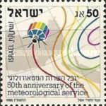 [The 50th Anniversary of Meteorological Service, Typ ALK]