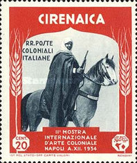 [The 2nd International Colonial Exhibition - Cirenaica Warrior on Horse, type AD2]