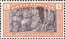 [Holy Year - Italian Postage Stamps Overprinted