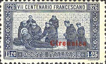 [The 700th Anniversary of the Birth of Franciss of Assisi - Italian Postage Stamps Overprinted