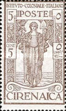 [Italian Colonial Institute - Goddess of Peace - Watermarked, type G]