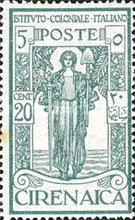 [Italian Colonial Institute - Goddess of Peace - Watermarked, type G2]