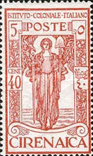 [Italian Colonial Institute - Goddess of Peace - Watermarked, type G3]