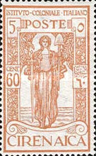 [Italian Colonial Institute - Goddess of Peace - Watermarked, type G4]