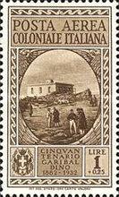 [Airmail - The 50th Anniversary of the Death of Giuseppe Garibaldi - Italian Postage Stamps Overprinted