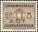 [Coat of Arms  - Italian Postage Due Stamps Overprinted, Typ A]