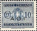 [Coat of Arms  - Italian Postage Due Stamps Overprinted, Typ A1]