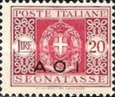 [Coat of Arms  - Italian Postage Due Stamps Overprinted, Typ A12]