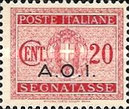 [Coat of Arms  - Italian Postage Due Stamps Overprinted, Typ A2]