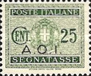 [Coat of Arms  - Italian Postage Due Stamps Overprinted, Typ A3]