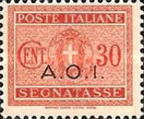 [Coat of Arms  - Italian Postage Due Stamps Overprinted, Typ A4]