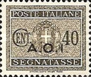 [Coat of Arms  - Italian Postage Due Stamps Overprinted, Typ A5]