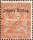 "[Italian Postage Stamps Overprinted ""Colonia Eritrea"", type A1]"