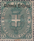 "[Italian Postage Stamps Overprinted ""Colonia Eritrea"", type A2]"
