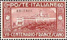 [The 700th Anniversary of the Death of St. Francis of Assisi - Italian Postage & Not Issued Stamps Overprinted, type AB2]