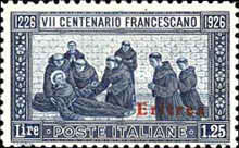 [The 700th Anniversary of the Death of St. Francis of Assisi - Italian Postage & Not Issued Stamps Overprinted, type AB3]