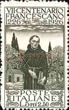 [The 700th Anniversary of the Death of St. Francis of Assisi - Italian Postage & Not Issued Stamps Overprinted, type AB4]