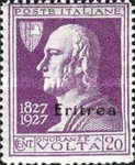 """[The 100th Anniversary of the Death of Alessandro Volta - Italian Not Issued Stamps Overprinted """"Eritrea"""", type AH]"""