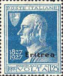 """[The 100th Anniversary of the Death of Alessandro Volta - Italian Not Issued Stamps Overprinted """"Eritrea"""", type AH2]"""