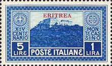 [The 1400th Anniversary of Monte Cassino Monastery - Not Issued Stamps Overprinted