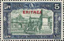 """[Not Issued Stamps of Italy Overprinted """"ERITREA"""", type BA3]"""