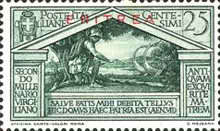 """[The 2000th Anniversary of the Birth of Roman Poet Vergil - Not Issued Italian Stamps Overprinted """"ERITREA"""" in Blue or Red, type BC2]"""