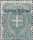 """[Coat of Arms - Italian Postage Stamps Overprinted """"Colonia Eritrea"""", Typ C2]"""