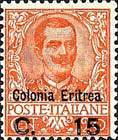 "[King Victor Emmanuel III of Italy - Italian Postage Stamp Overprinted ""Colonia Eritrea"", Typ F]"