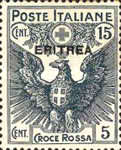 [Red Cross - Italian Postage Stamps Overprinted