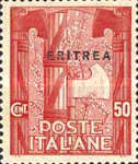 """[The 1st Anniversary of March on Rome - Italian Stamps Overprinted """"ERITREA"""", type T2]"""