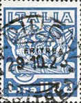 """[The 1st Anniversary of March on Rome - Italian Stamps Overprinted """"ERITREA"""", type T3]"""