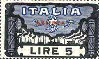 """[The 1st Anniversary of March on Rome - Italian Stamps Overprinted """"ERITREA"""", type T5]"""