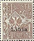 """[Italian Postage Stamps Overprinted """"Libia"""", type A]"""