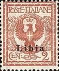 """[Italian Postage Stamps Overprinted """"Libia"""", type A1]"""