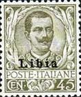 """[Italian Postage Stamps Overprinted """"Libia"""", type A10]"""
