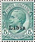 """[Italian Postage Stamps Overprinted """"Libia"""", type A2]"""