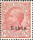 """[Italian Postage Stamps Overprinted """"Libia"""", type A3]"""