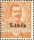 """[Italian Postage Stamps Overprinted """"Libia"""", type A6]"""