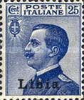 """[Italian Postage Stamps Overprinted """"Libia"""", type A8]"""