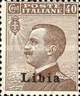 """[Italian Postage Stamps Overprinted """"Libia"""", type A9]"""