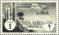 [Airmail - Italian Cyrenaica Postage Stamps Overprinted