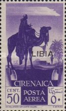 """[Airmail - Italian Cyrenaica Stamps Overprinted """"LIBIA"""", type S]"""