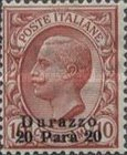 [Italian postage Stamps Overprinted for Use in Durazzo, type D1]