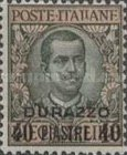 [Italian postage Stamps Overprinted for Use in Durazzo, tyyppi G2]