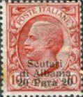 [Italian Postage Stamps Overprinted for Use in Scutari, type H1]