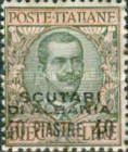 [Italian Postage Stamps Overprinted for Use in Scutari, type K2]