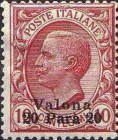 [Italian Postage Stamps Overprinted for Use in Valona, type L1]