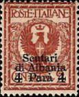 [Italian Postage Stamp No. 69 Surcharged, Typ P]