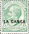 """[Italy Postage Stamps Overprinted """"LA CANEA"""", tyyppi D]"""